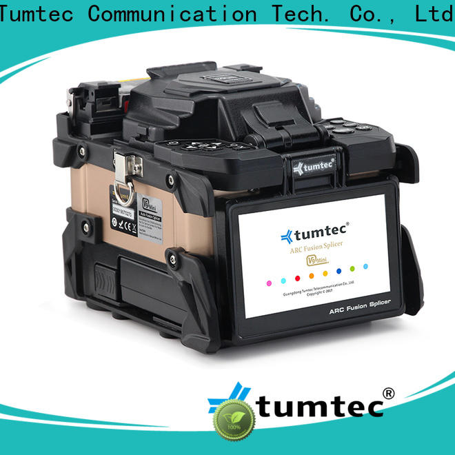 Tumtec four motors splicing equipment wholesale for fiber optic solution bulk production
