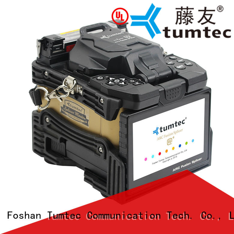 Tumtec v9 mini fiber splicing machine from China for fiber optic solution