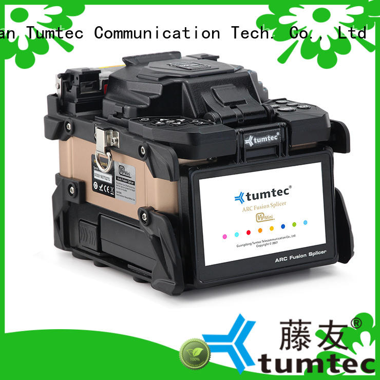 four motors FTTH splicing machine factory directly sale for telecommunications Tumtec