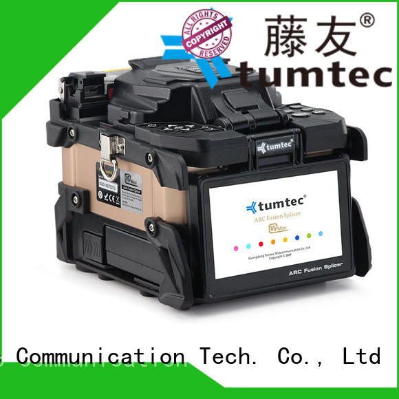 Tumtec v9 mini fusion splicing machine factory directly sale for telecommunications