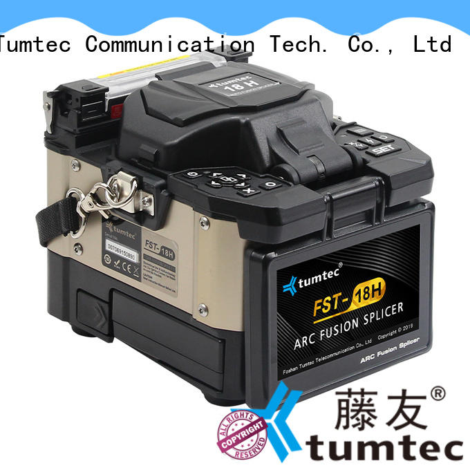 Tumtec stable FTTH splicing machine from China for outdoor environment