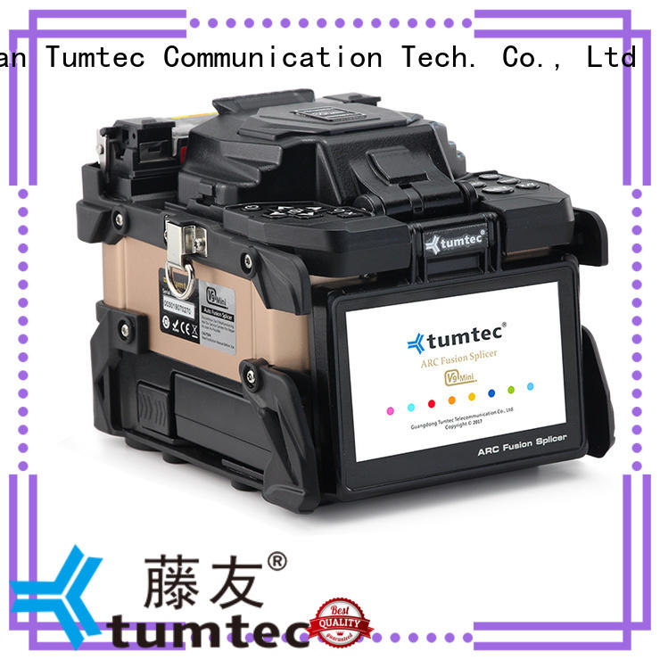 v9 mini fiber optic fusion machine factory directly sale for telecommunications Tumtec
