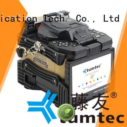 Tumtec four motors fusion splicing machine factory directly sale for fiber optic solution