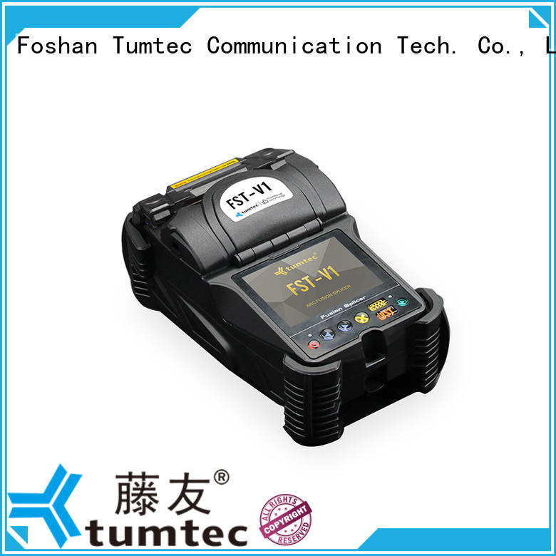 Tumtec v9 mini optical fiber splicing machine from China for fiber optic solution