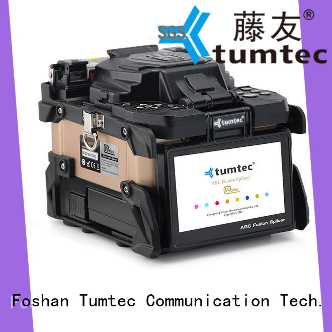 Tumtec four motors fiber splicing machine from China for telecommunications